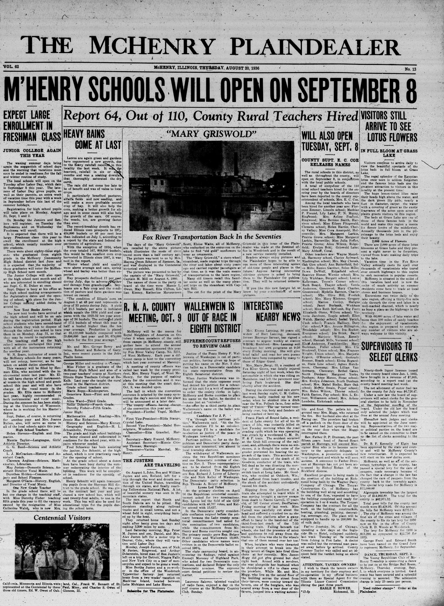 McHenry Plaindealer (McHenry, IL), 20 Aug 1936