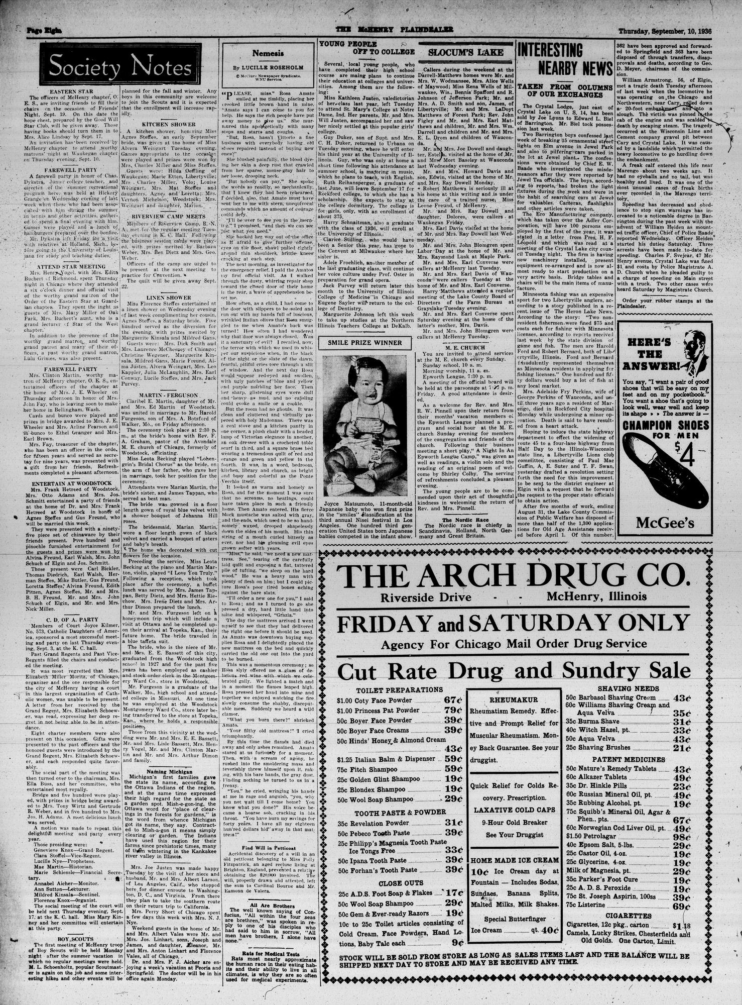 McHenry Plaindealer (McHenry, IL), 10 Sep 1936