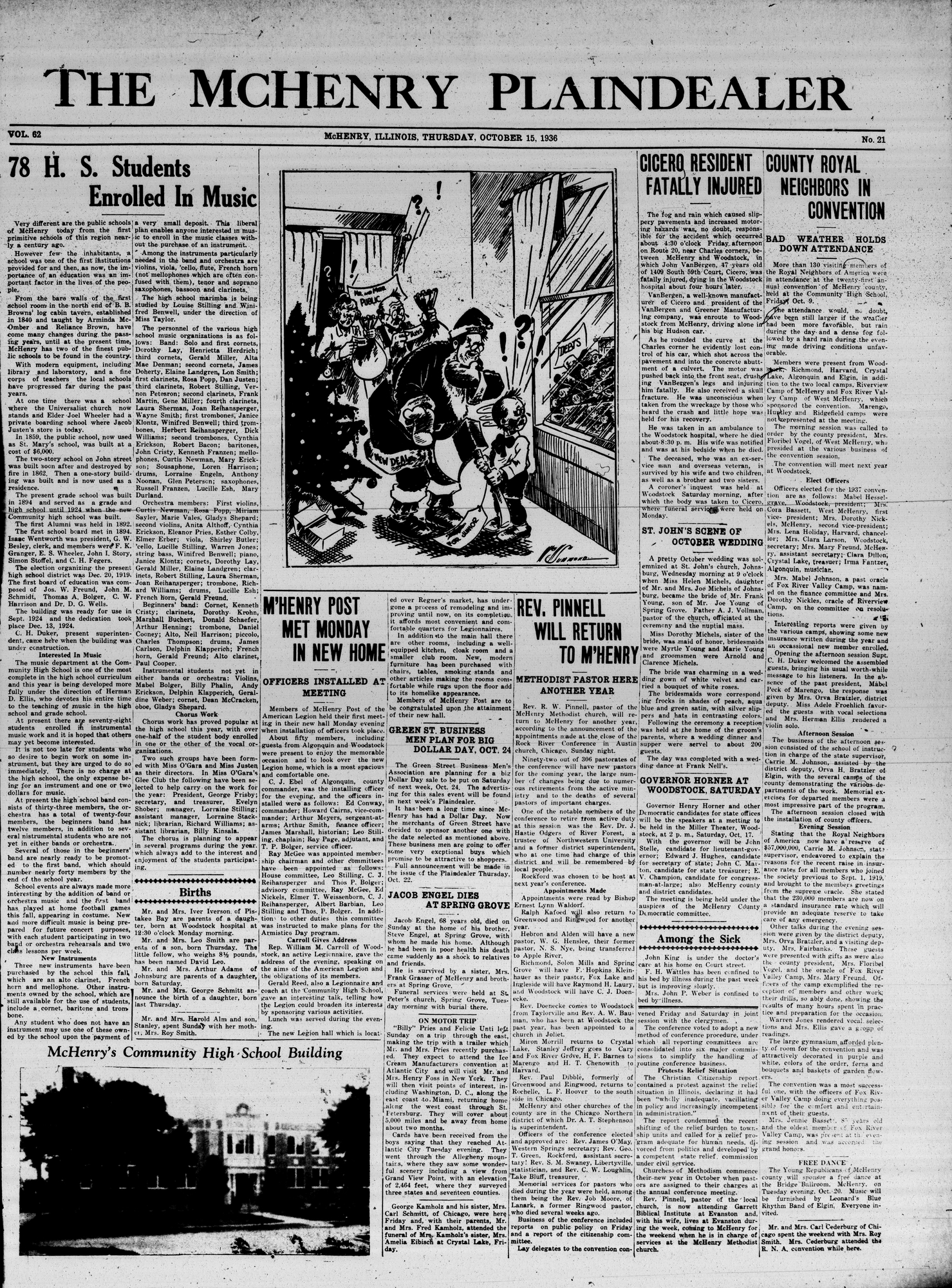 McHenry Plaindealer (McHenry, IL), 15 Oct 1936