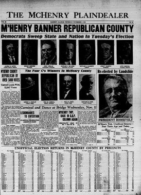 McHenry Plaindealer (McHenry, IL), 5 Nov 1936
