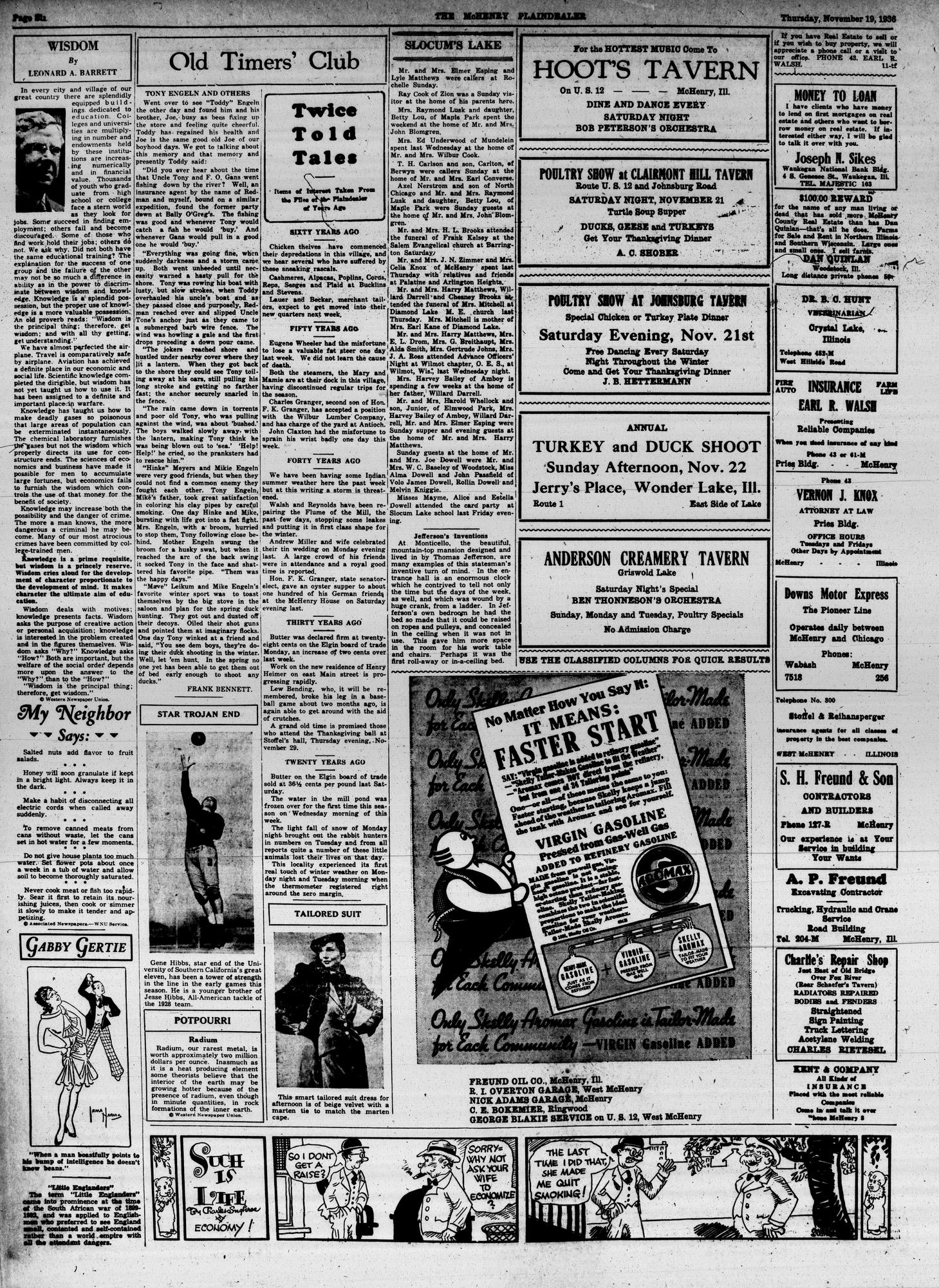 McHenry Plaindealer (McHenry, IL), 19 Nov 1936