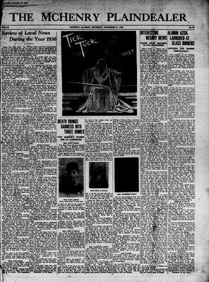 McHenry Plaindealer (McHenry, IL), 31 Dec 1936