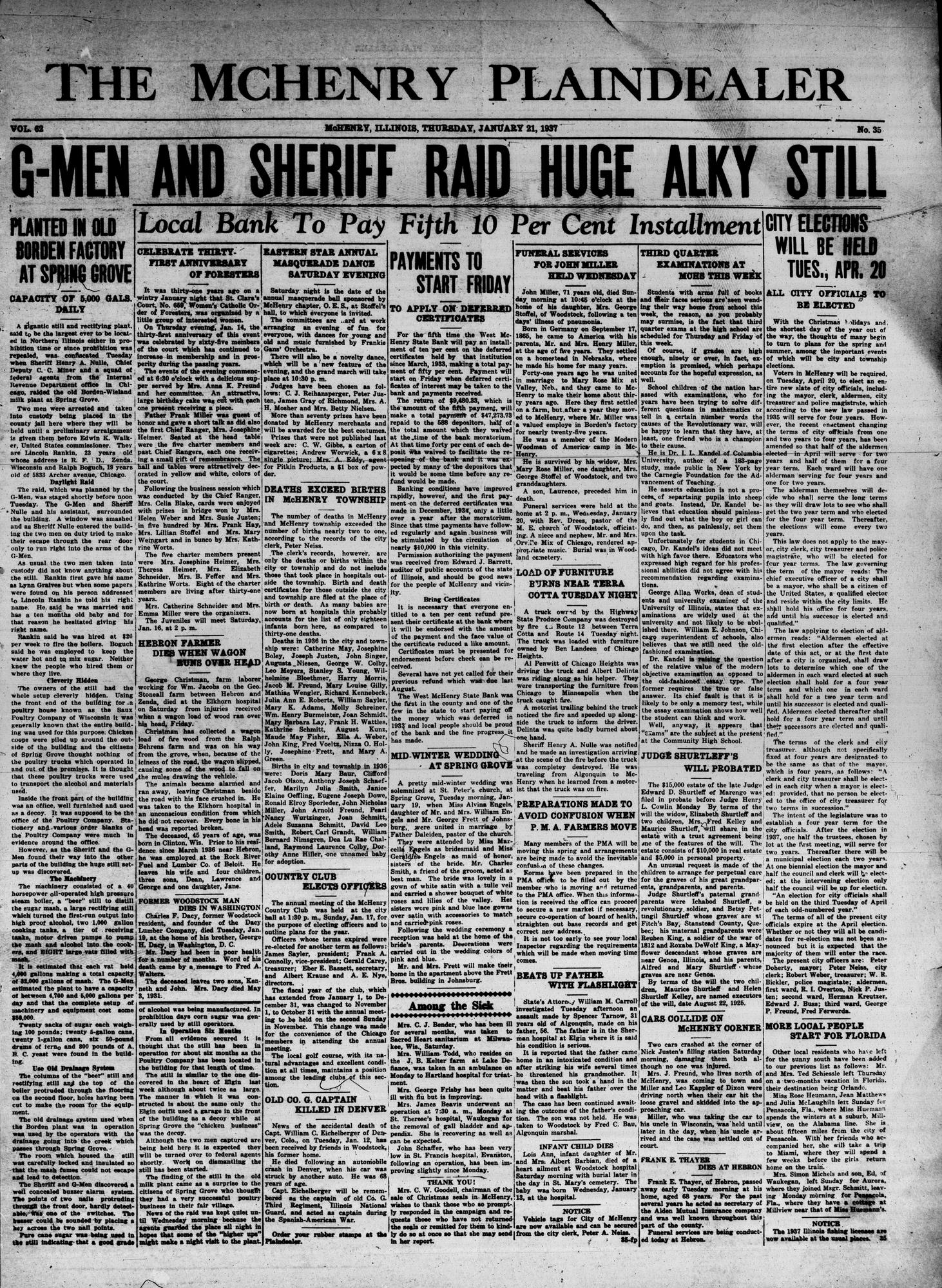 McHenry Plaindealer (McHenry, IL), 21 Jan 1937