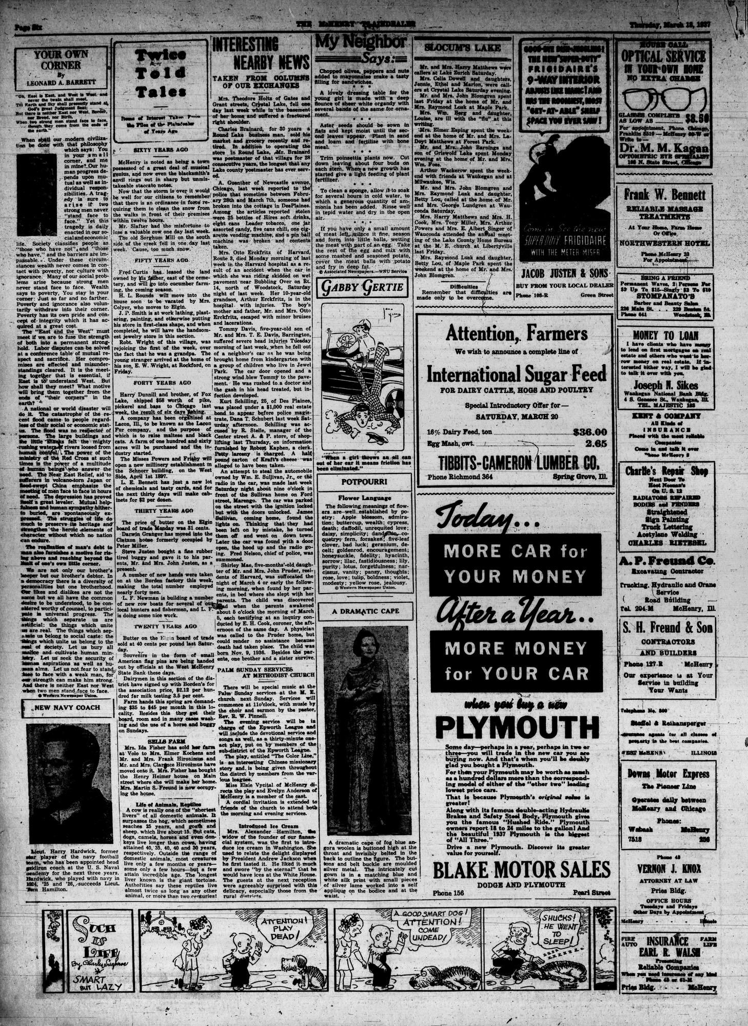 McHenry Plaindealer (McHenry, IL), 18 Mar 1937