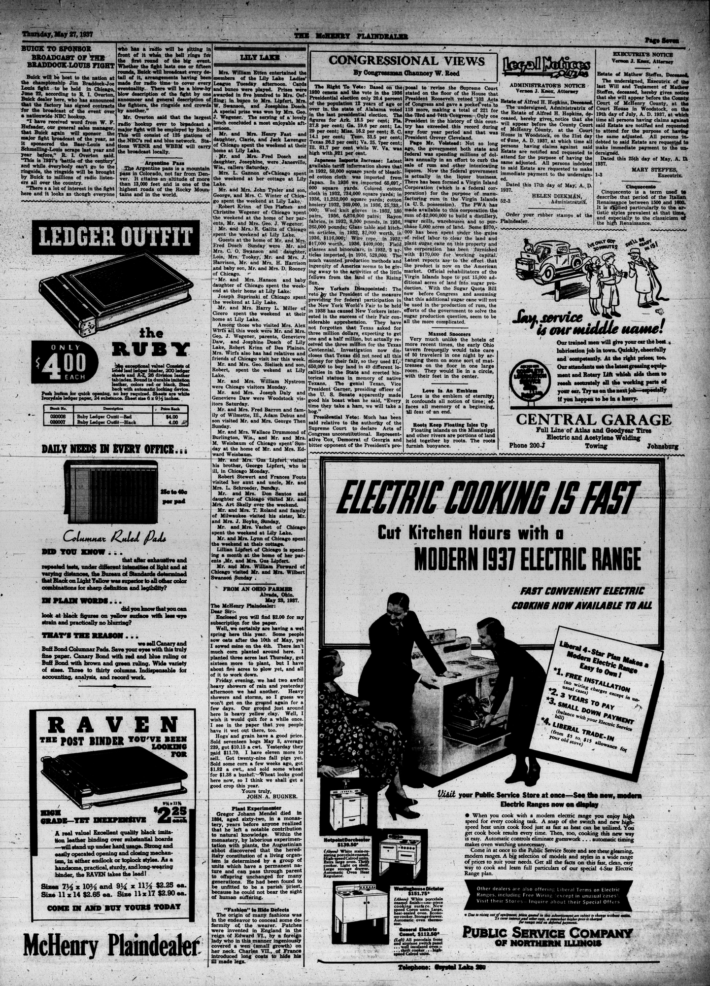 McHenry Plaindealer (McHenry, IL), 27 May 1937