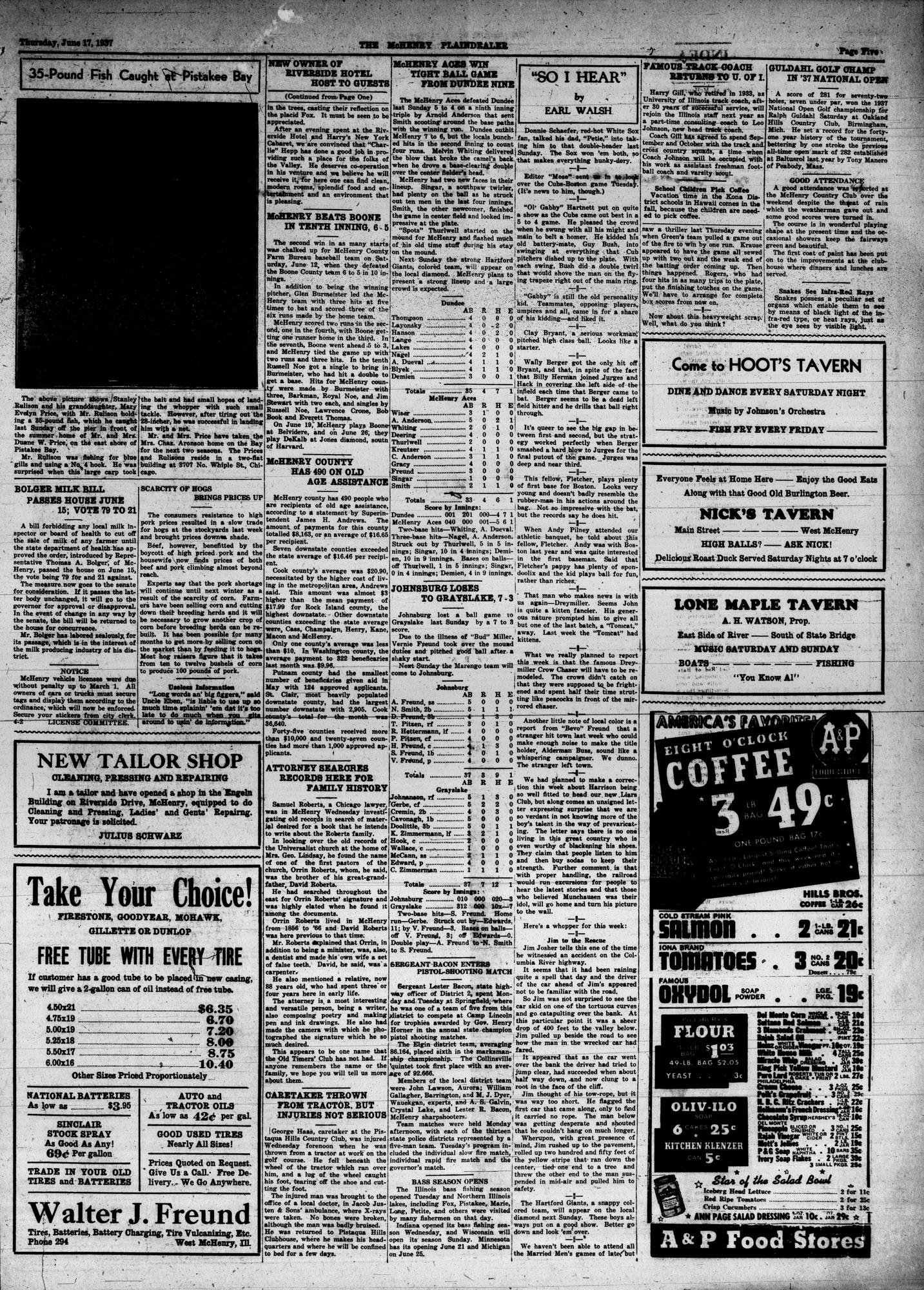 McHenry Plaindealer (McHenry, IL), 17 Jun 1937