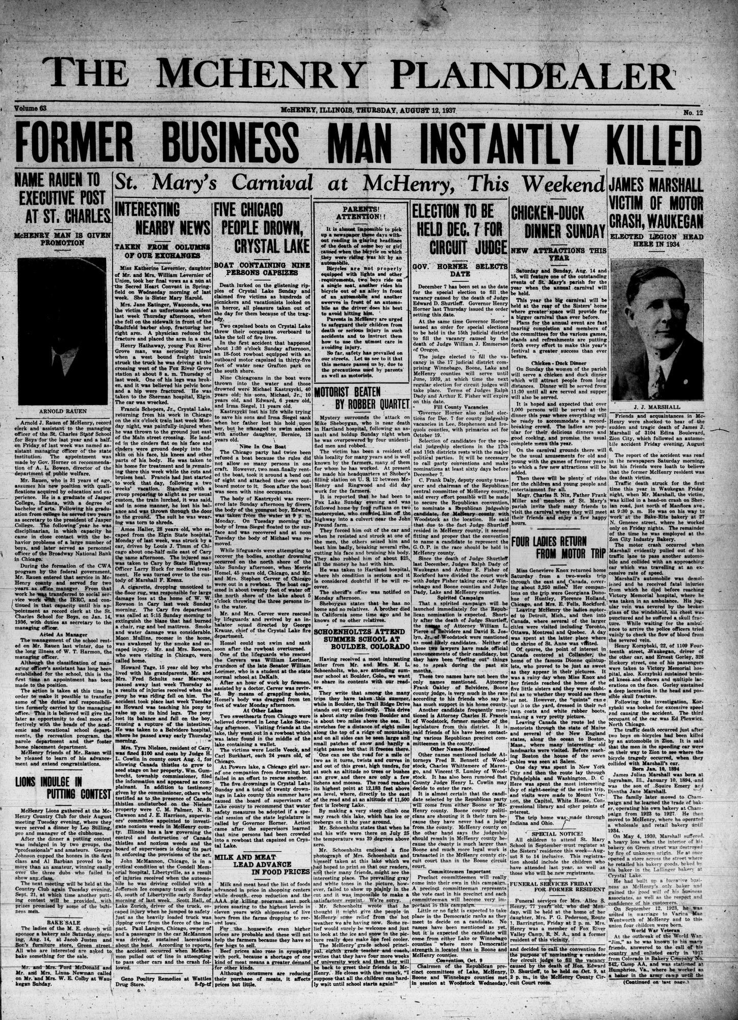 McHenry Plaindealer (McHenry, IL), 12 Aug 1937
