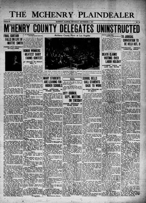 McHenry Plaindealer (McHenry, IL), 9 Sep 1937