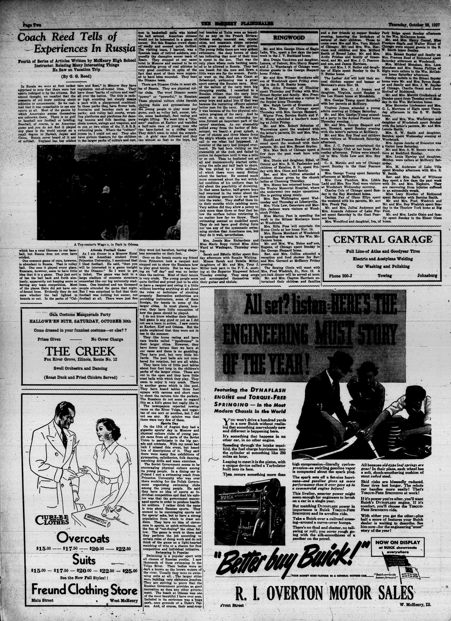 McHenry Plaindealer (McHenry, IL), 28 Oct 1937