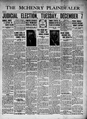 McHenry Plaindealer (McHenry, IL), 2 Dec 1937