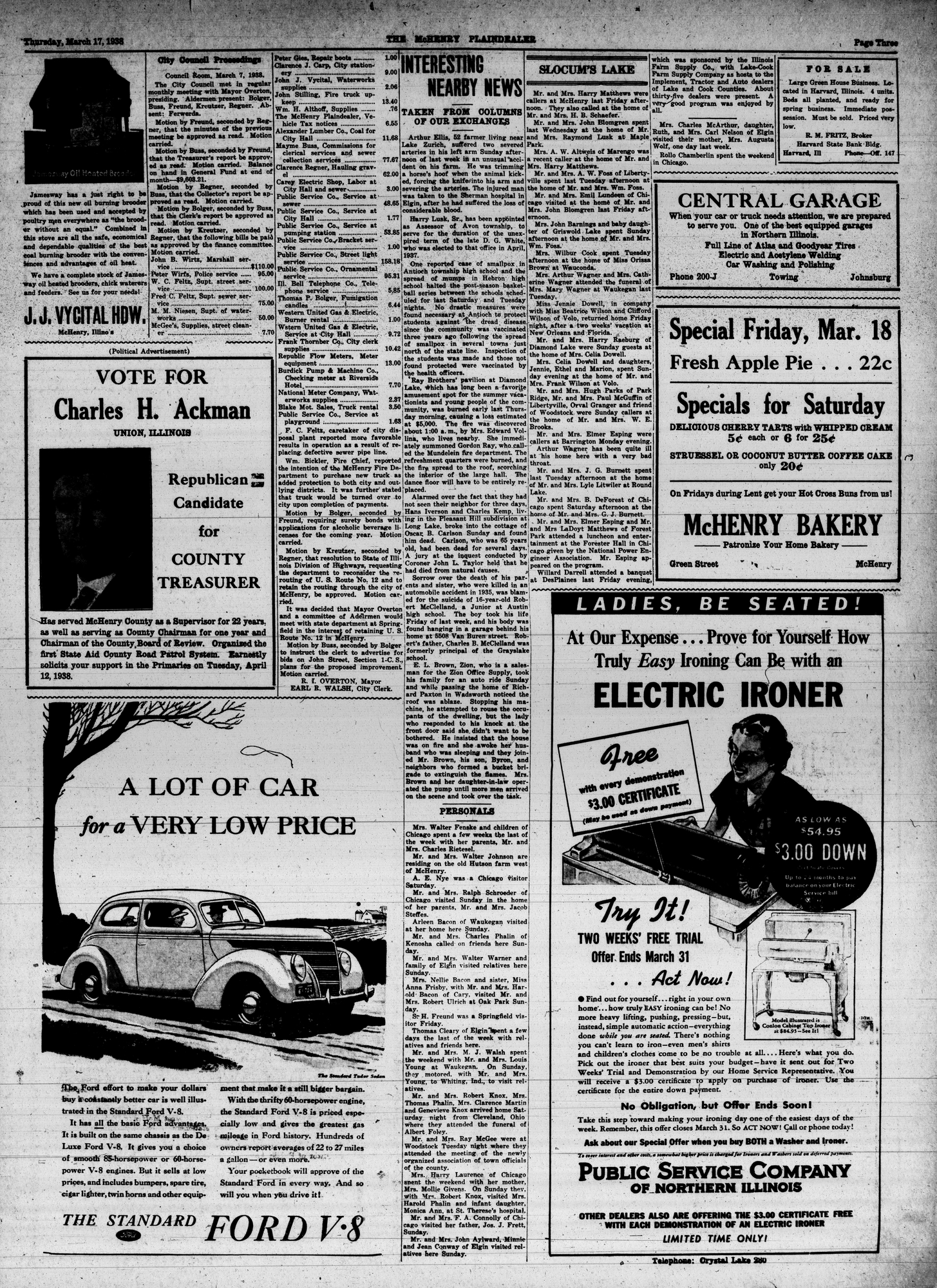McHenry Plaindealer (McHenry, IL), 17 Mar 1938
