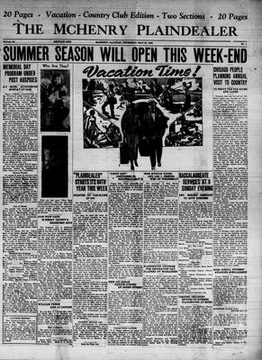 McHenry Plaindealer (McHenry, IL), 26 May 1938