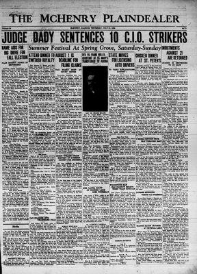 McHenry Plaindealer (McHenry, IL), 21 Jul 1938