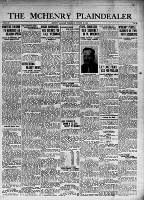 McHenry Plaindealer (McHenry, IL), 20 Oct 1938