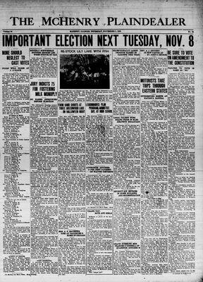 McHenry Plaindealer (McHenry, IL), 3 Nov 1938