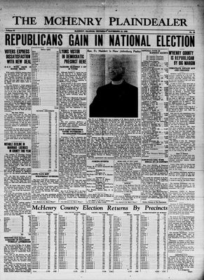McHenry Plaindealer (McHenry, IL), 10 Nov 1938