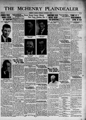 McHenry Plaindealer (McHenry, IL), 1 Dec 1938