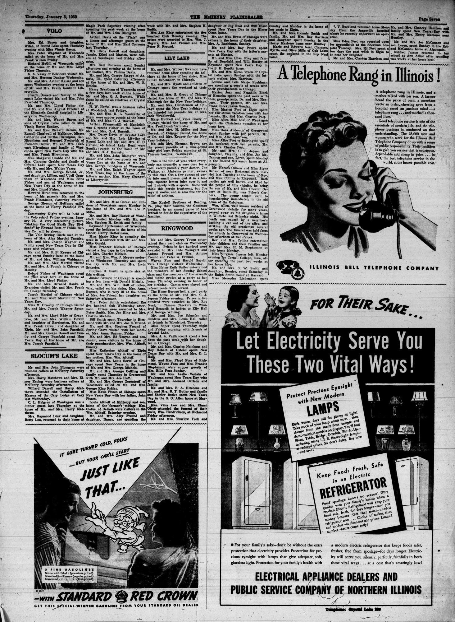 McHenry Plaindealer (McHenry, IL), 5 Jan 1939