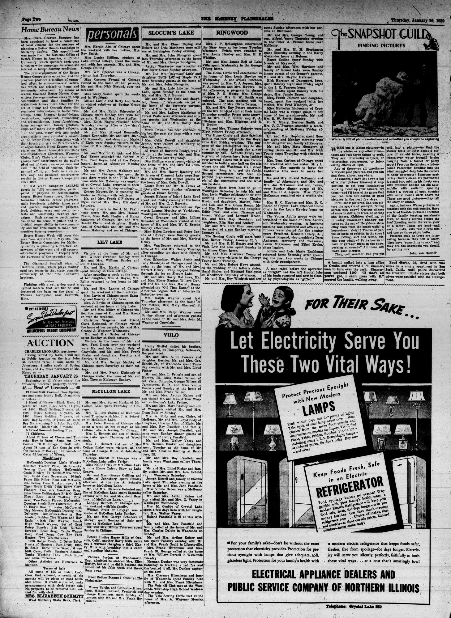 McHenry Plaindealer (McHenry, IL), 19 Jan 1939