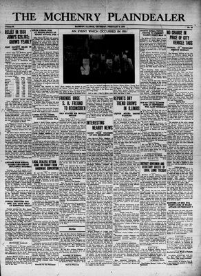 McHenry Plaindealer (McHenry, IL), 9 Feb 1939