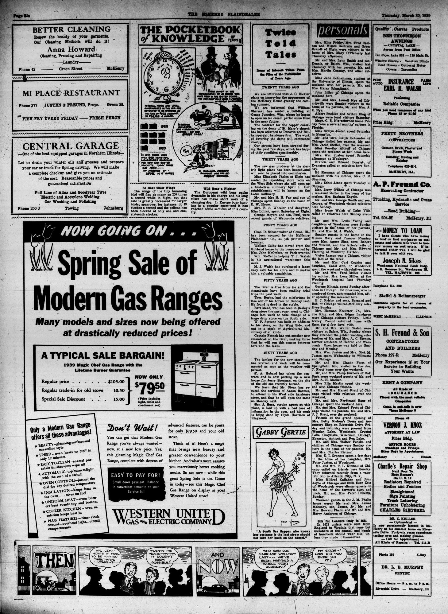 McHenry Plaindealer (McHenry, IL), 30 Mar 1939