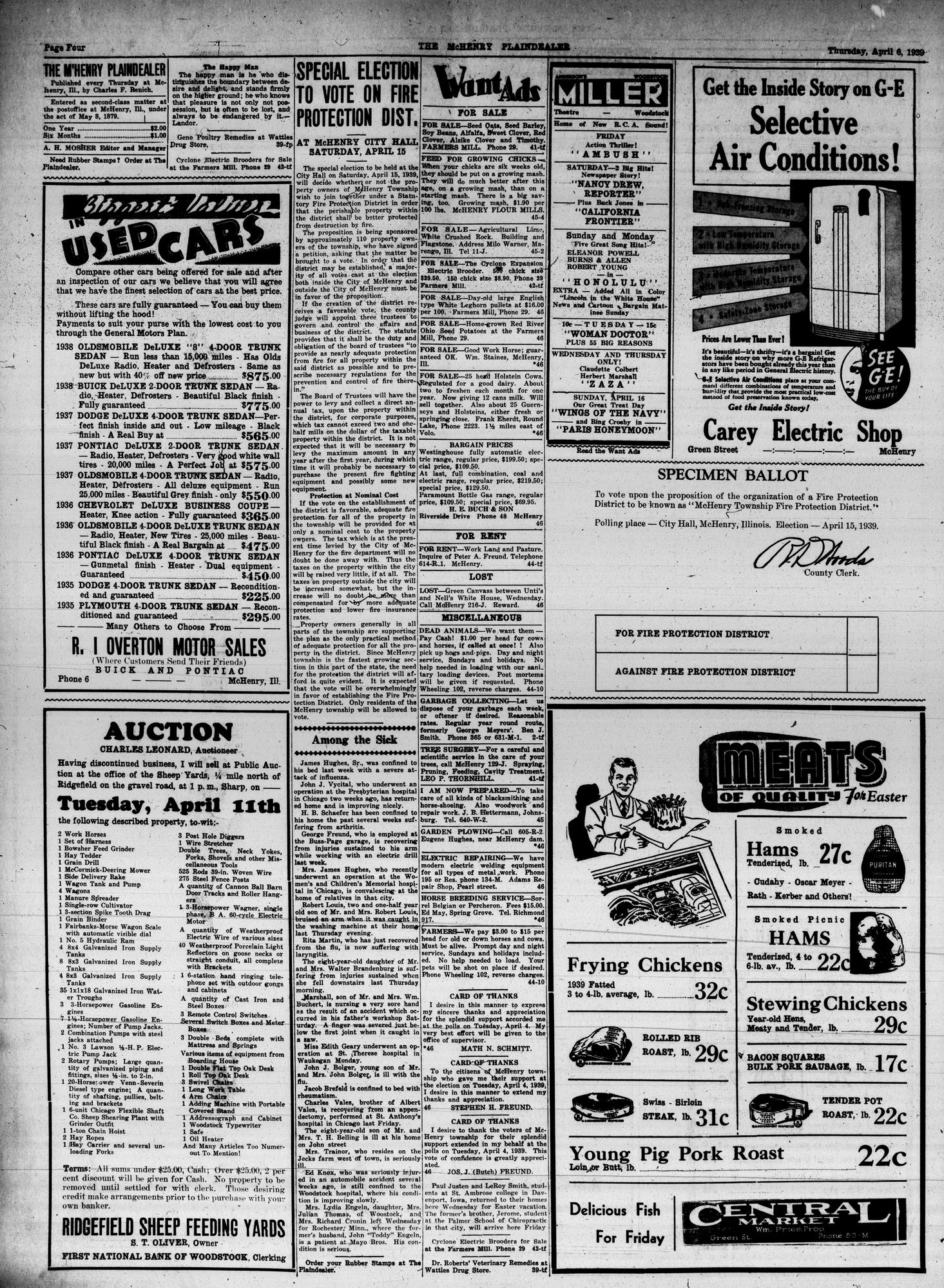 McHenry Plaindealer (McHenry, IL), 6 Apr 1939