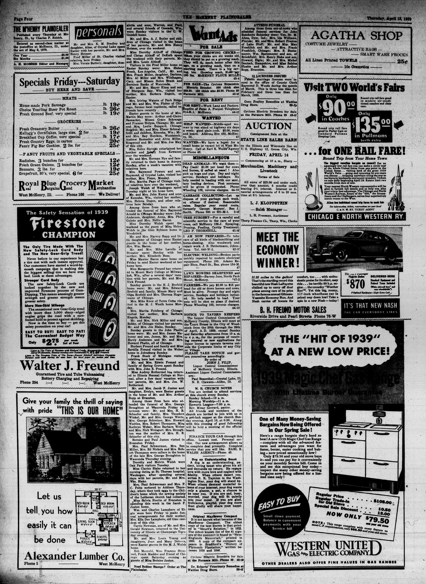 McHenry Plaindealer (McHenry, IL), 13 Apr 1939