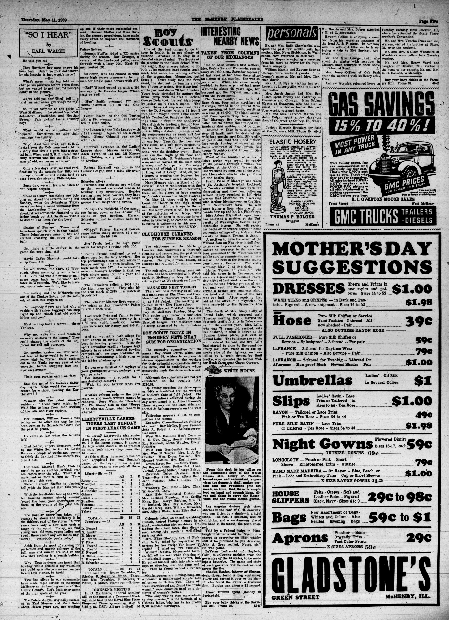 McHenry Plaindealer (McHenry, IL), 11 May 1939