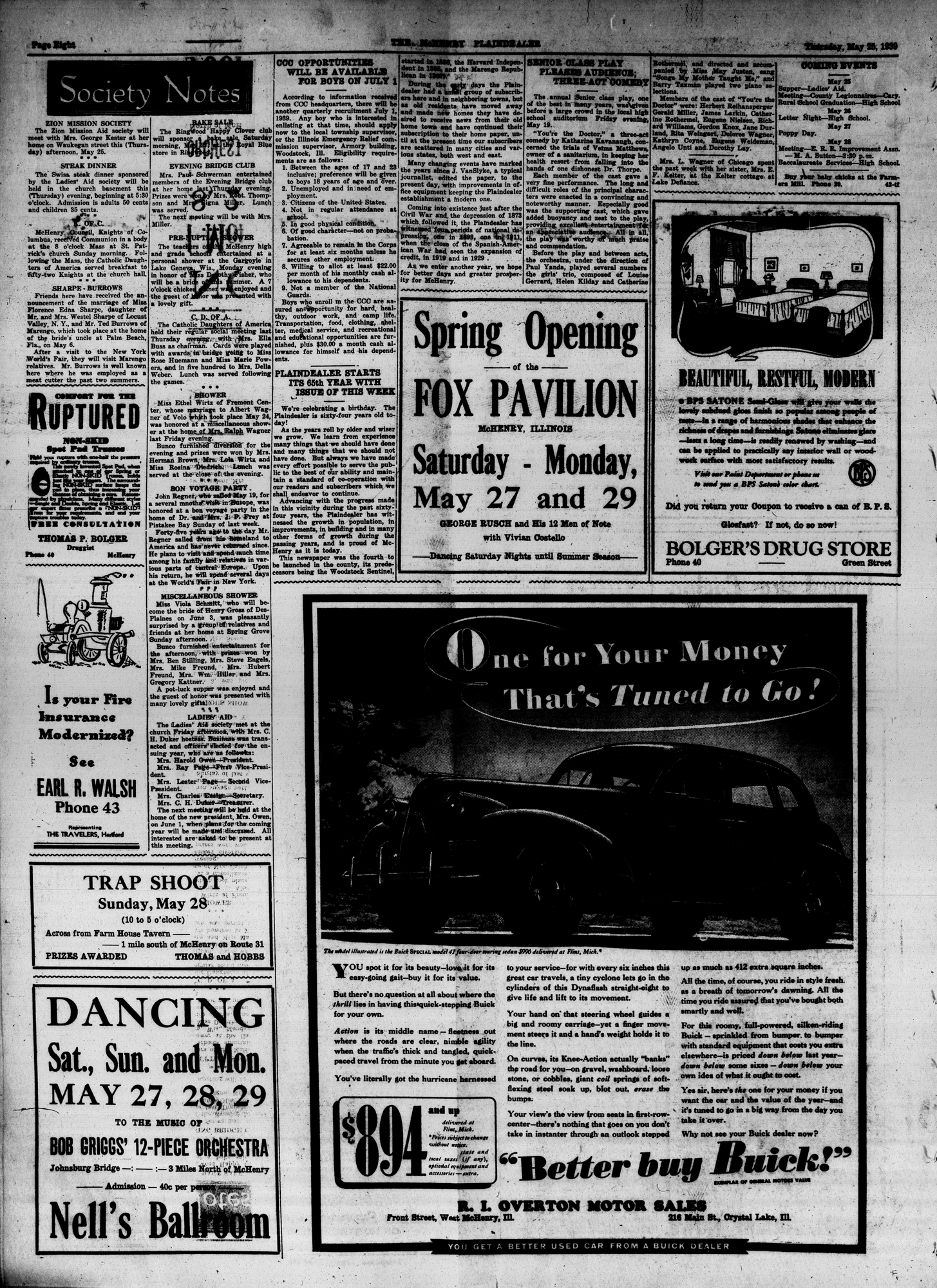 McHenry Plaindealer (McHenry, IL), 25 May 1939