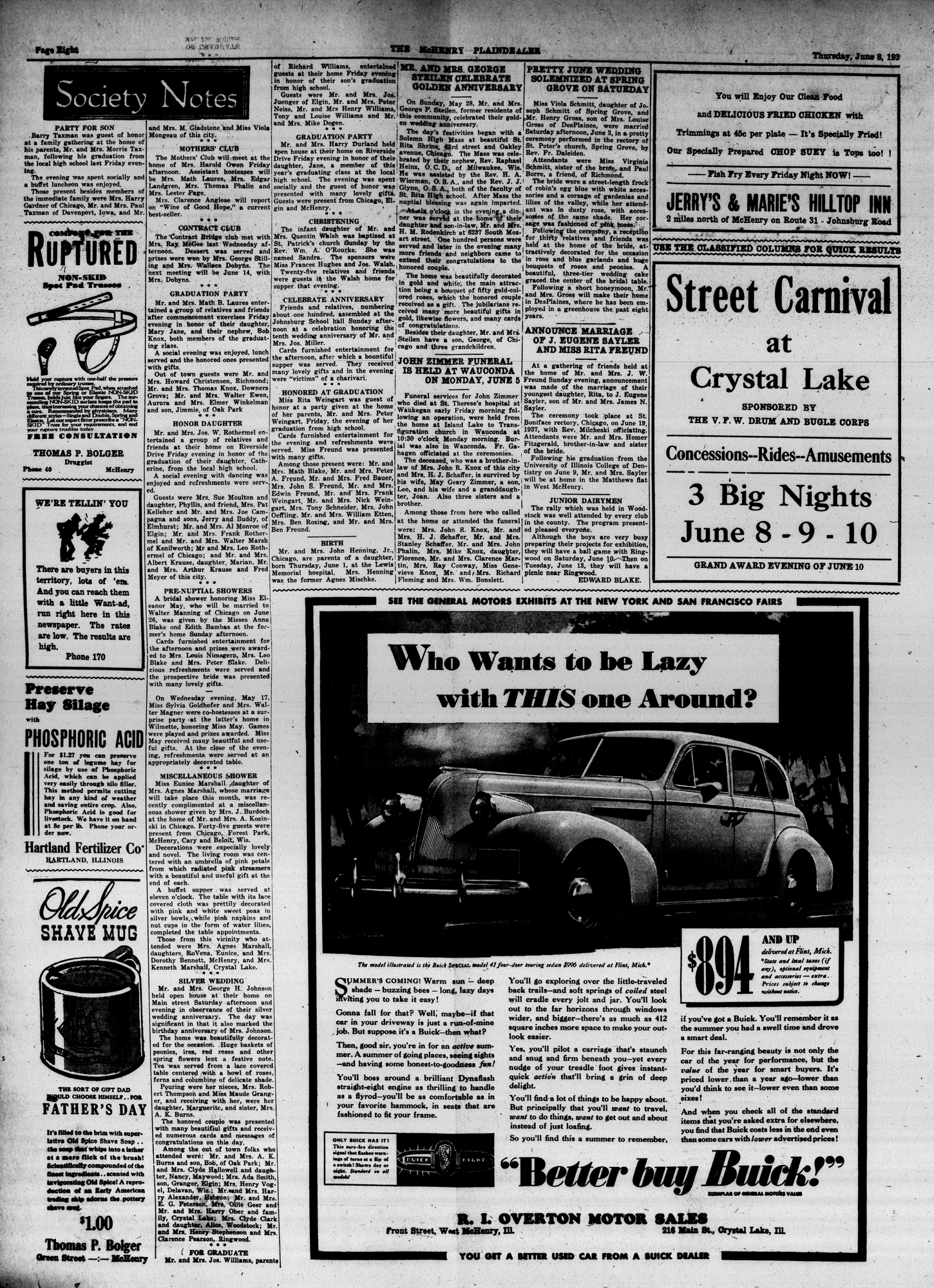 McHenry Plaindealer (McHenry, IL), 8 Jun 1939