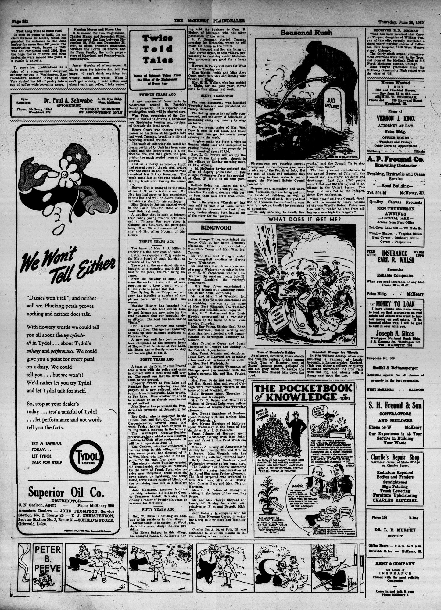 McHenry Plaindealer (McHenry, IL), 29 Jun 1939