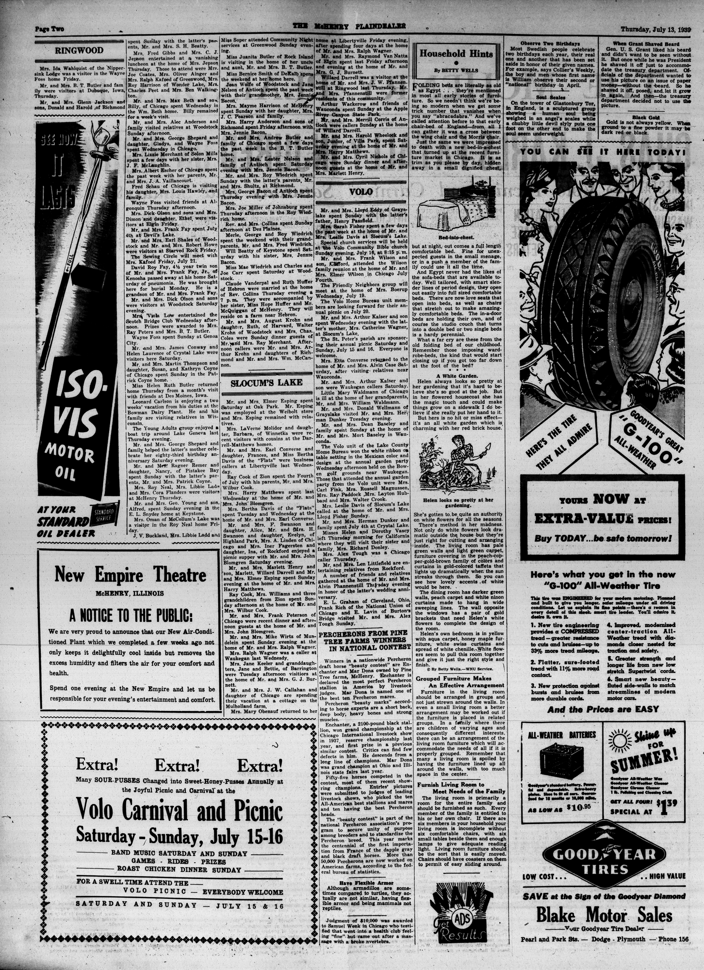 McHenry Plaindealer (McHenry, IL), 13 Jul 1939