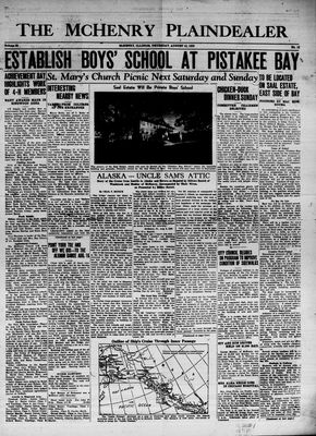 McHenry Plaindealer (McHenry, IL), 10 Aug 1939