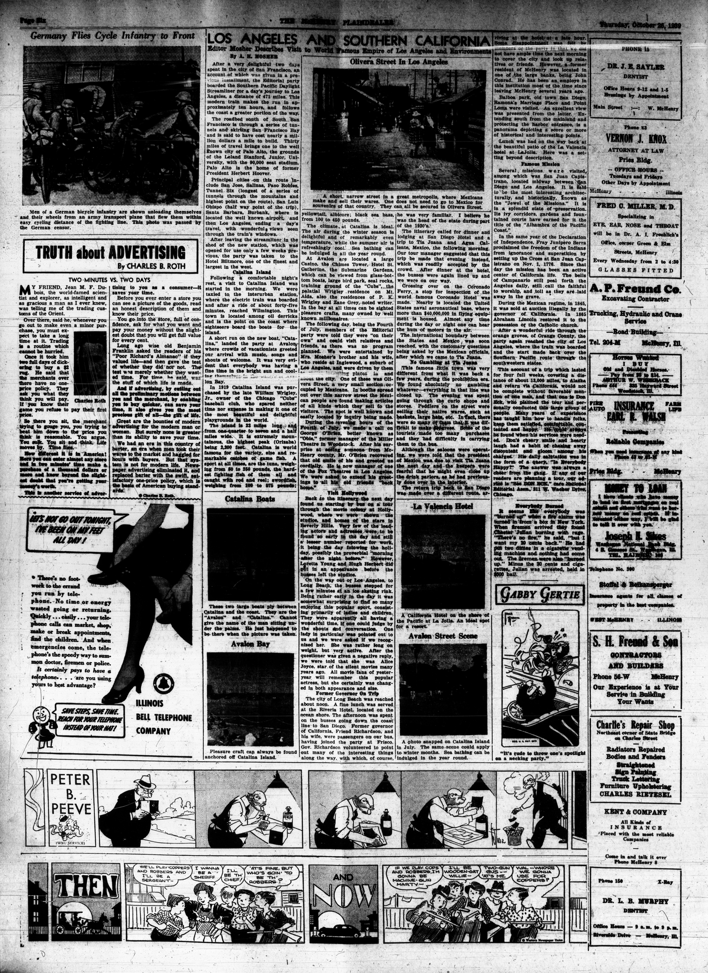 McHenry Plaindealer (McHenry, IL), 26 Oct 1939