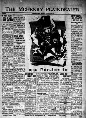 McHenry Plaindealer (McHenry, IL), 28 Dec 1939