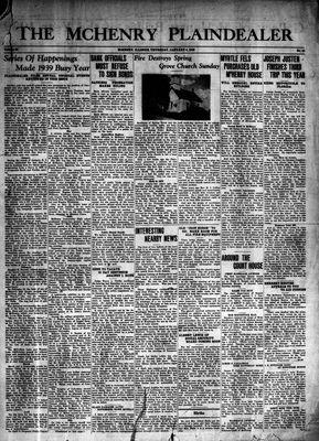 McHenry Plaindealer (McHenry, IL), 4 Jan 1940