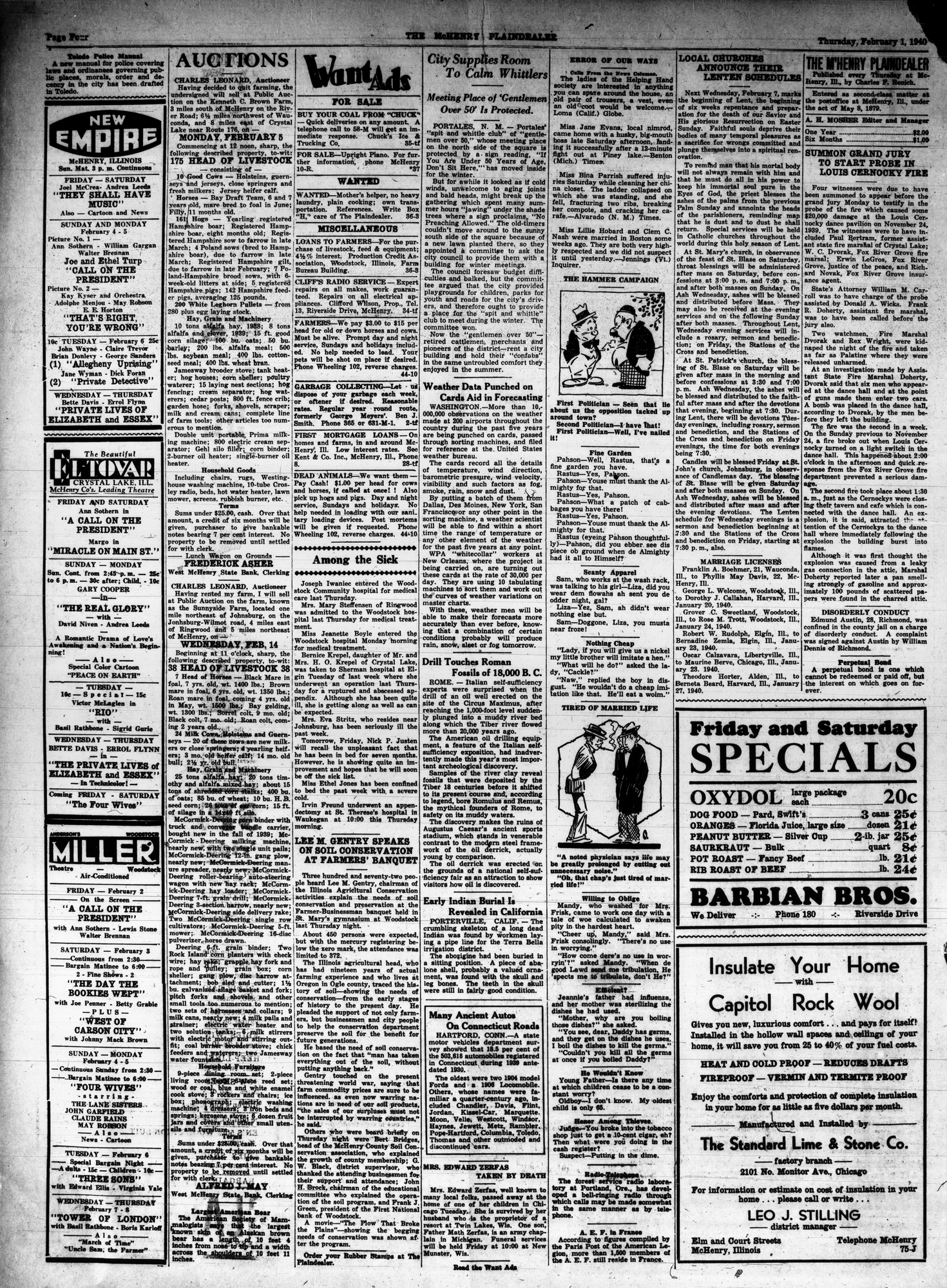McHenry Plaindealer (McHenry, IL), 1 Feb 1940