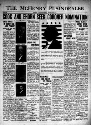 McHenry Plaindealer (McHenry, IL), 22 Feb 1940