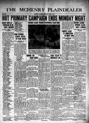 McHenry Plaindealer (McHenry, IL), 4 Apr 1940
