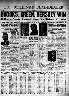 McHenry Plaindealer (McHenry, IL), 11 Apr 1940