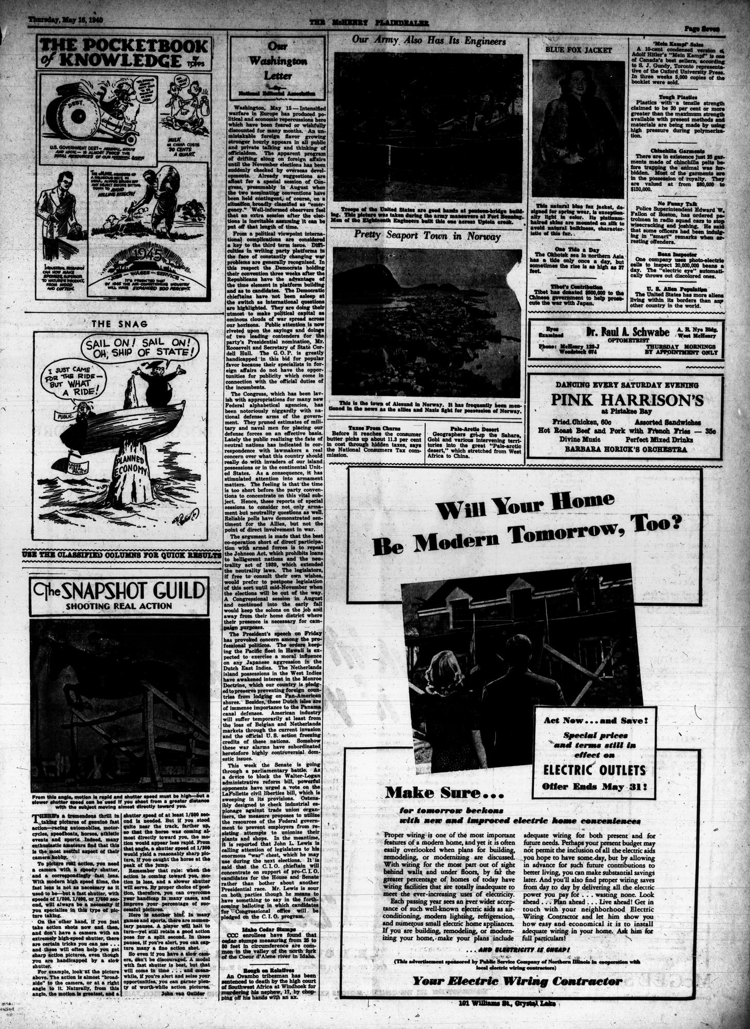 McHenry Plaindealer (McHenry, IL), 16 May 1940