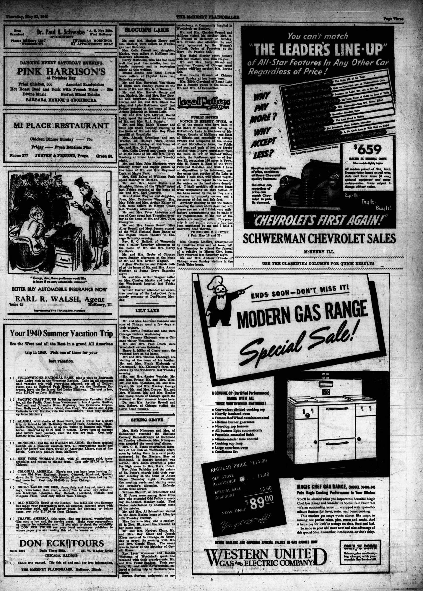 McHenry Plaindealer (McHenry, IL), 23 May 1940