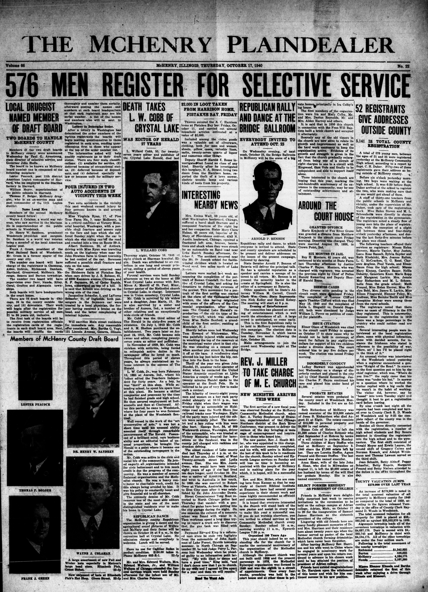 McHenry Plaindealer (McHenry, IL), 17 Oct 1940