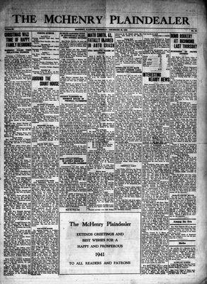 McHenry Plaindealer (McHenry, IL), 26 Dec 1940