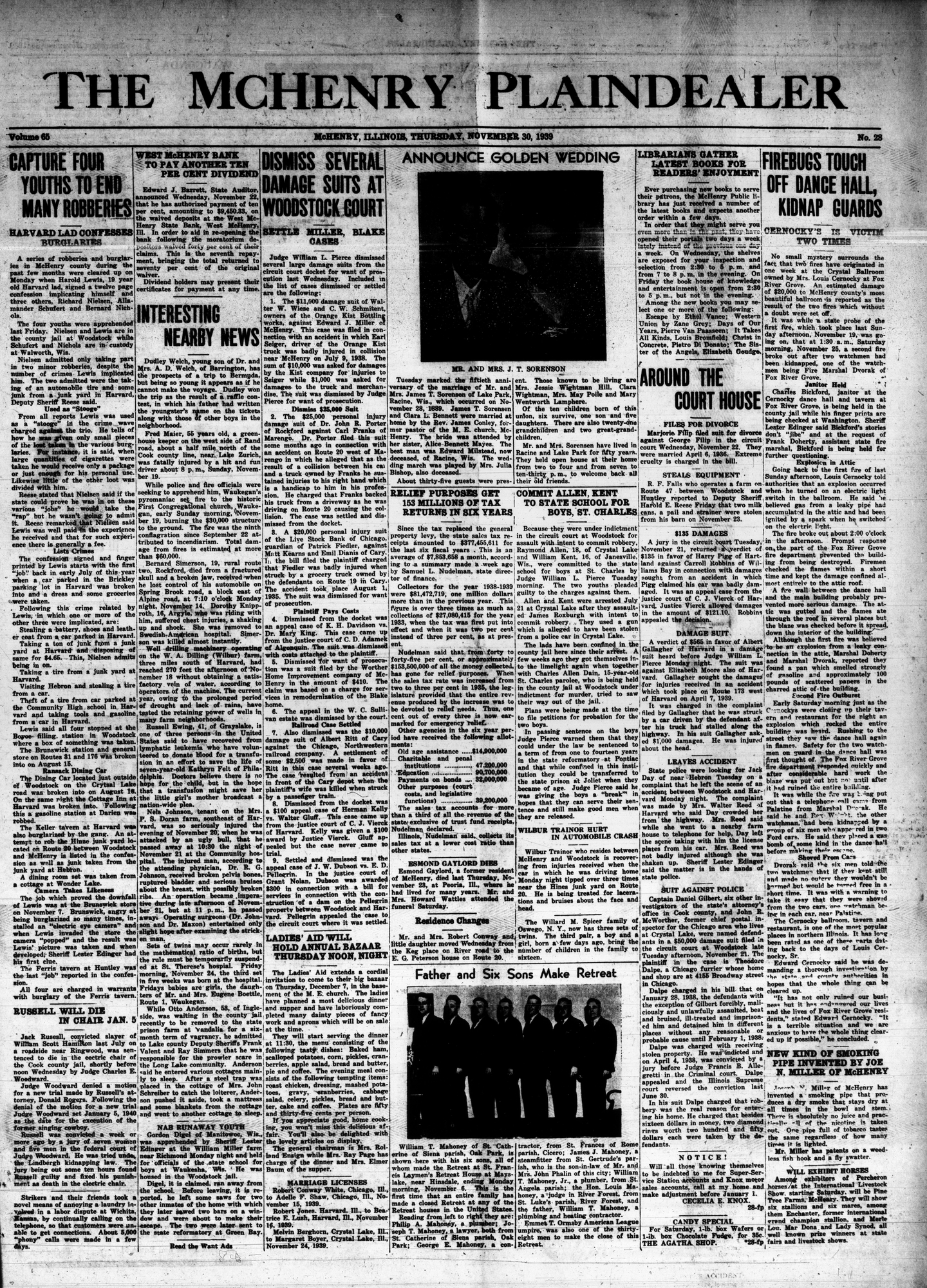 McHenry Plaindealer (McHenry, IL), 30 Nov 1939