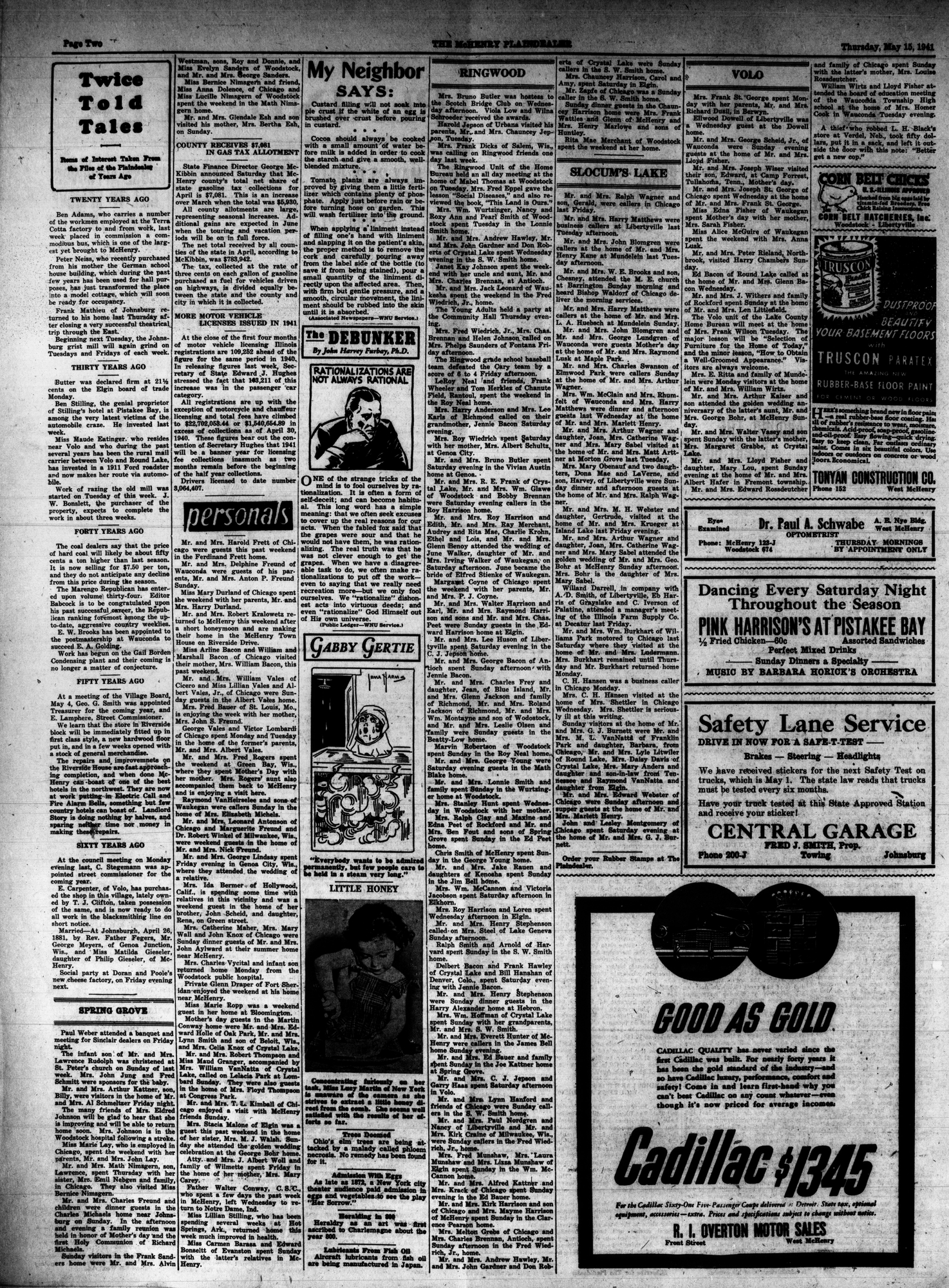 McHenry Plaindealer (McHenry, IL), 15 May 1941