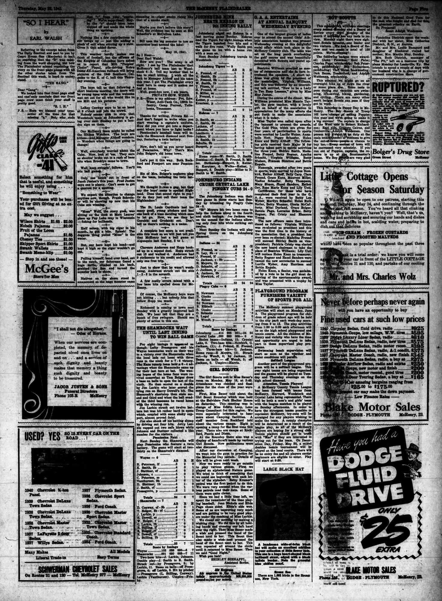 McHenry Plaindealer (McHenry, IL), 22 May 1941