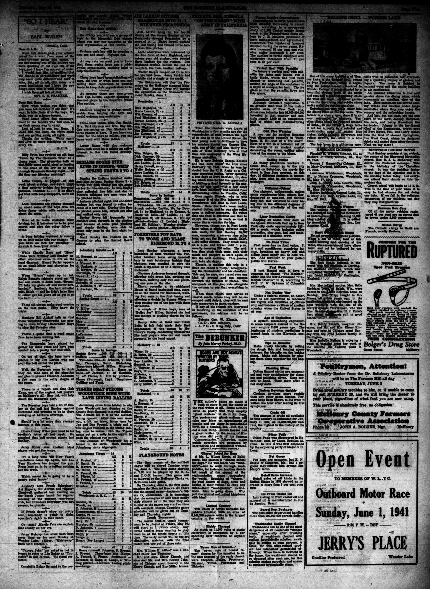 McHenry Plaindealer (McHenry, IL), 29 May 1941