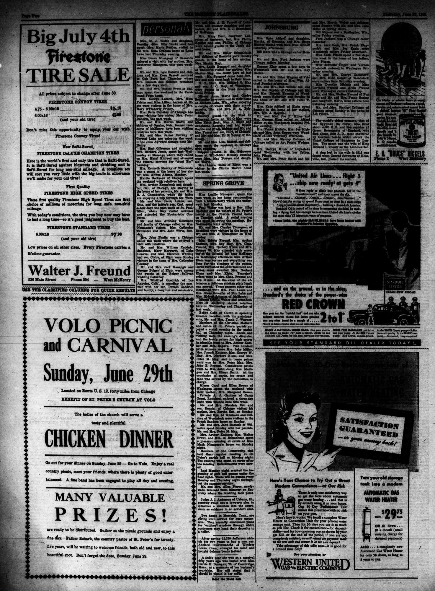 McHenry Plaindealer (McHenry, IL), 26 Jun 1941