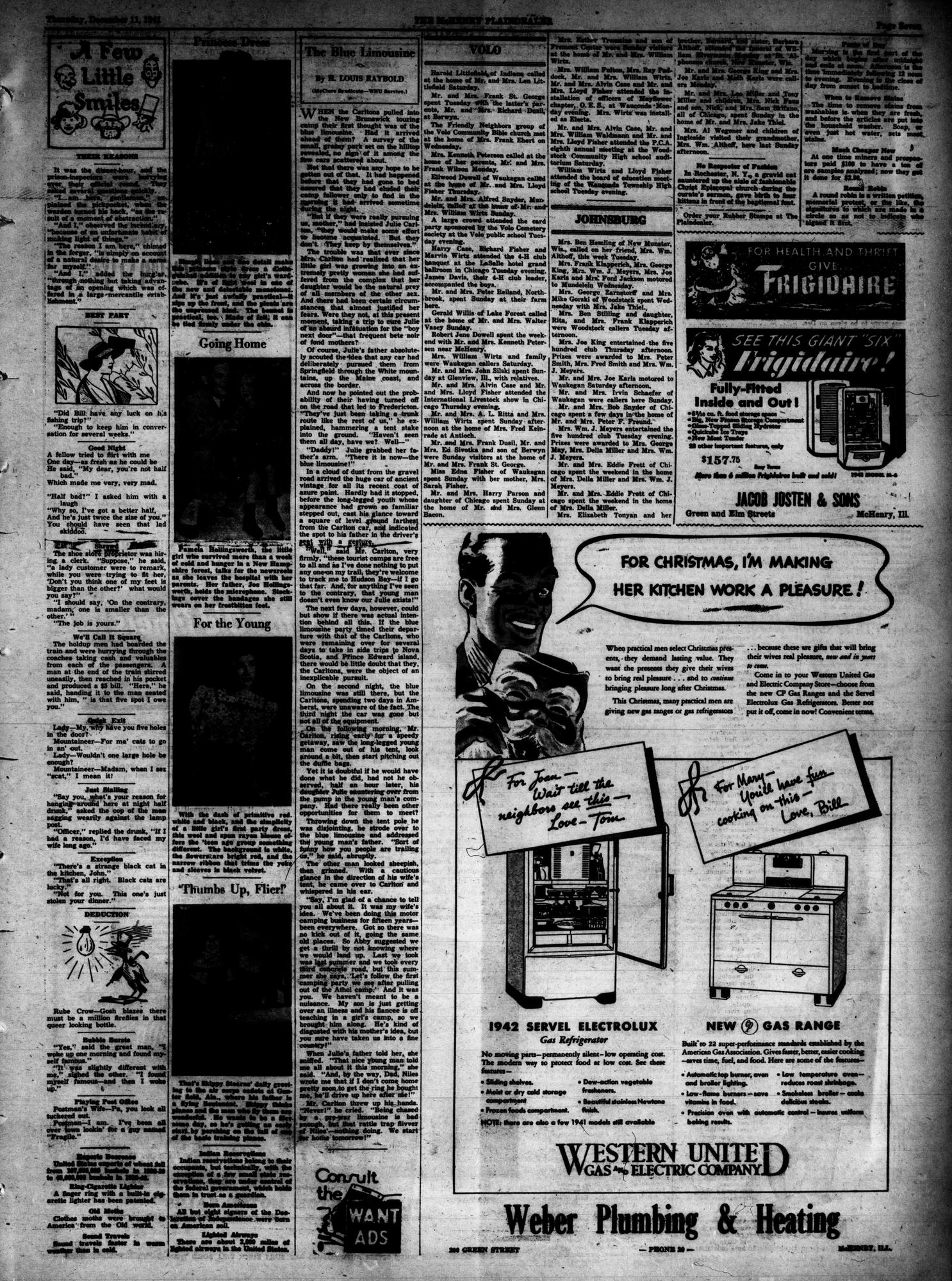 McHenry Plaindealer (McHenry, IL), 11 Dec 1941